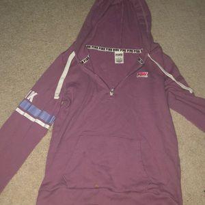 love pink hoodie with zipper